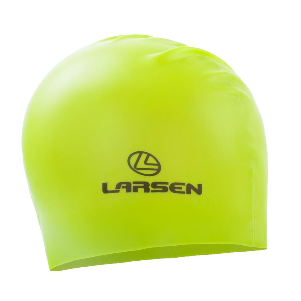 Шапочка плавательная Larsen LS77, силикон, лайм