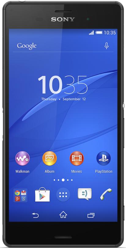 Sony D6633 Xperia Z3 Dual, Black - (Android 4.4; GSM 900/1800/1900, 3G, LTE, LTE Advanced Cat. 4; SIM-карт 2; 2500 МГц; RAM 3 Гб; ROM 16 Гб; 3100 мАч; 20.70 млн пикс., светодиодная вспышка; есть, 2.2 млн пикс.; датчики - освещенности, приближения, гироскоп, компас, барометр)