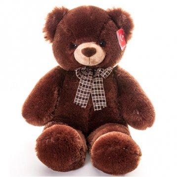 Мягкая игрушка Aurora Медведь с коричневым бантом