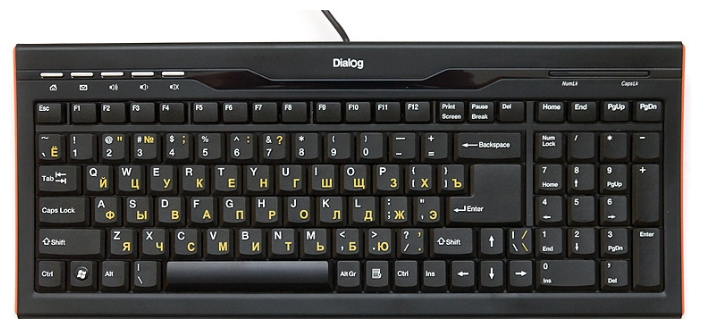 Клавиатура Dialog KP-114BU Black USB