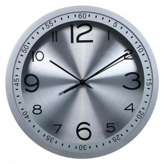 Часы настенные Бюрократ WallC-R05P, silver WALLC-R05P/SILVER
