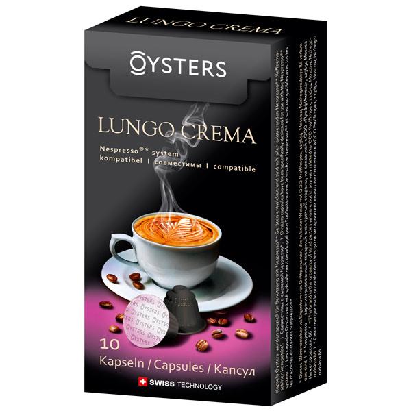 Oysters Lungo Crema - Кофе в капсулах; Арабика, Робуста; крепость 5/10; порция 110 мл; капсул 16 шт; совместимость - кофеварки и кофемашины