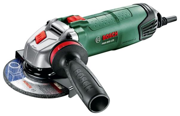 Bosch PWS 850-125 - угловая; 850 Вт; до 12000 об/мин; диам.диска до 125 мм; питание бытовая электросеть 06033A2720