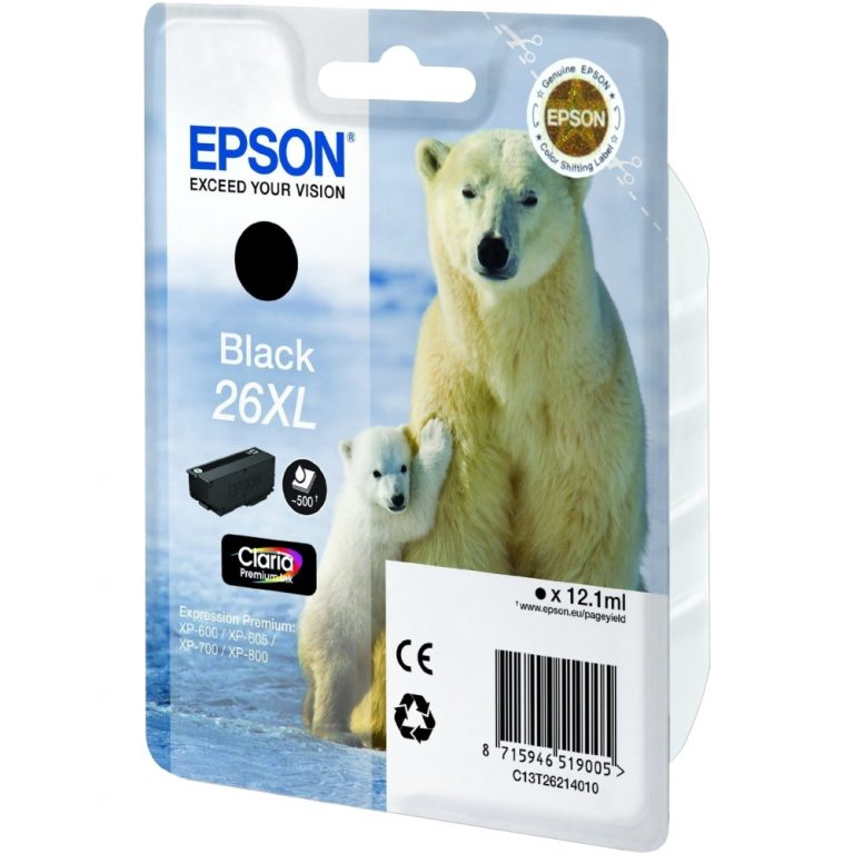 Картридж струйный Epson T2611 26, photo black C13T26114010