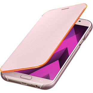 Чехол Samsung для Samsung Galaxy A7 (2017) Neon Flip Cover, pink