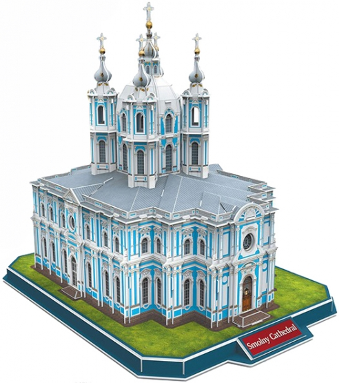 Паззл CubicFun Смольный Собор, (Россия)