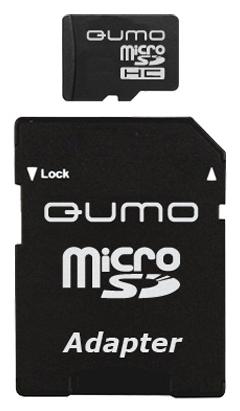 Qumo microSDHC class 6 8GB + SD adapter - (8 Гб; microSDHC; Class 6; SD-адаптер)