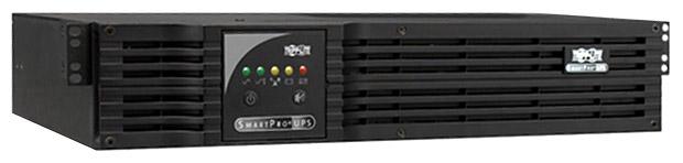 Tripp Lite SMX1000RT2U, Black - интерактивный; 1000 ВА / 700 Вт; в среднем 17 мин; вход 159 - 282 В; розеток 6 (из них с питанием от