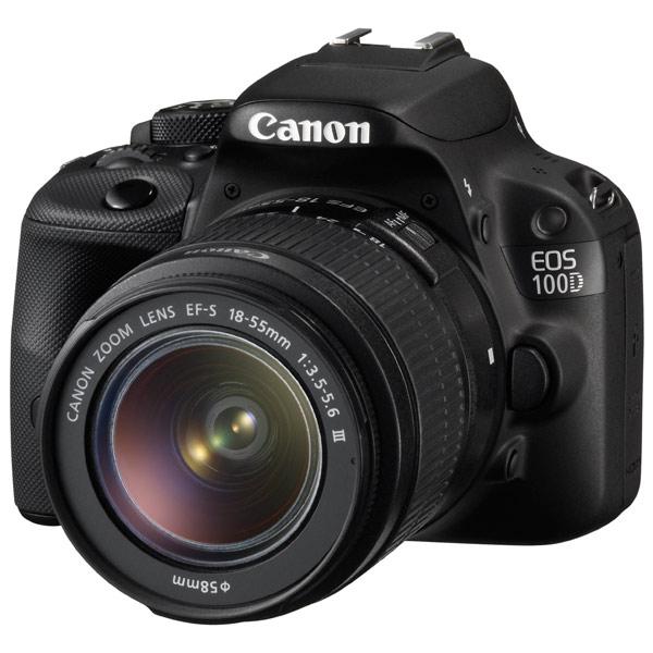 Canon EOS 100D 18-55DC Black Kit - (18.5 млн, 1920x1080, 4 кадр./сек, ЖК-экран: сенсорный, 1040000 точек, 3 дюйма)