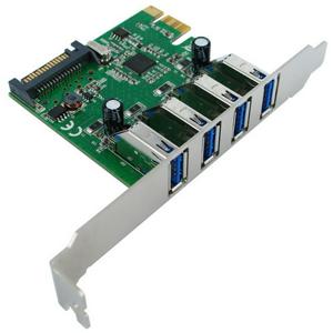 Speed Dragon EU306D-2 - USB-контроллер; PCI-Express x1; снаружи 4x USB 3.0 (тип A)