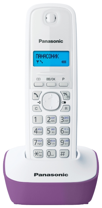 Радиотелефон DECT Panasonic KX-TG1611RUF Purple/White