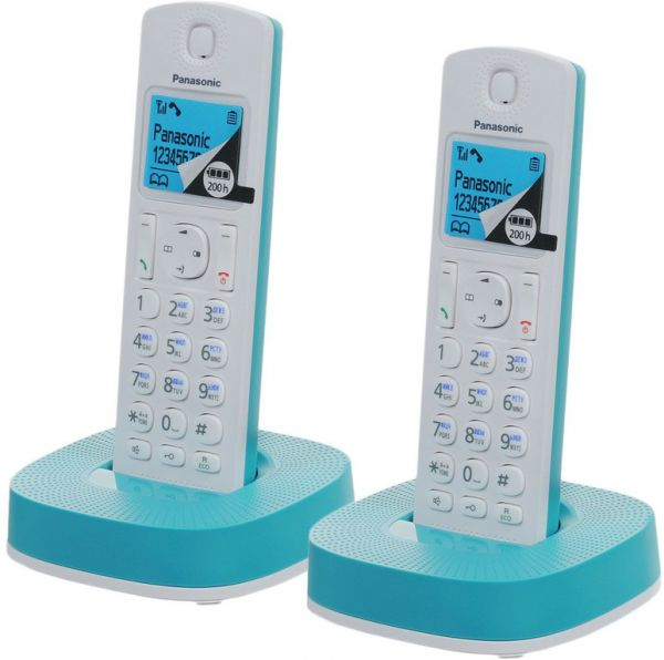 Радиотелефон DECT Panasonic KX-TGС312RUR Blue/White KX-TGС312RUС