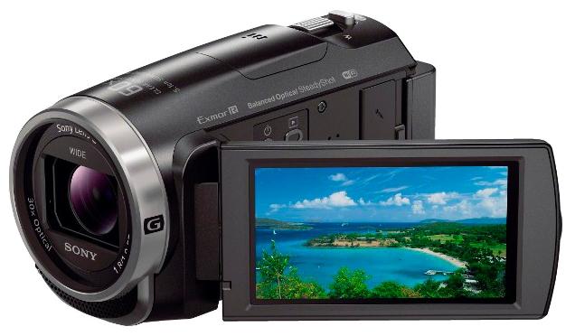 Sony HDR-CX625, black - (Zoom: 30x / 350x, 2.29 Мпикс, карты памяти: MS, стабилизатор изображения: оптический)