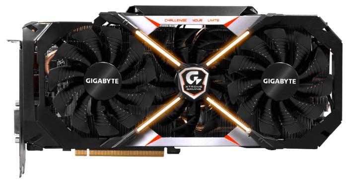 GIGABYTE GeForce GTX 1080 Premium pack (8Gb GDDR5X, DVI-D + HDMI + 3xDP) - (NVIDIA GeForce GTX 1080, 16 нм, 1784 МГц, 8192 Мб GDDR5X@10400 МГц 256 бит, TDP 180 Вт • Разъёмы: DVI-D, поддержка HDCP, HDMI x3, DisplayPort x3.)