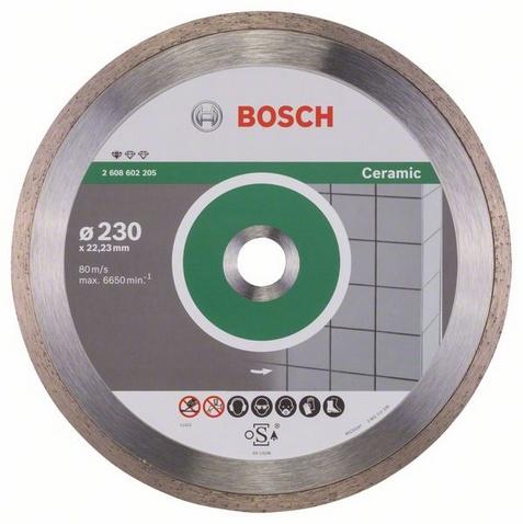 Диск отрезной BOSCH 2.608.602.205 (алмазный, по керамике, 230 мм) 2608602205