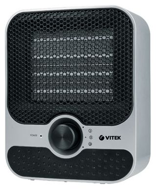 Тепловентилятор VITEK VT-1759 SR - термовентилятор, напольный, регулировка мощности: есть, уровни мощности: 1500/1001 Вт