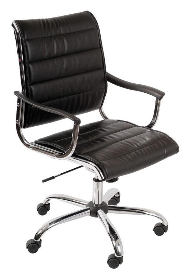 Бюрократ CH-994AXSN Black - (; регулировка выс.сидения - 520 - 600 мм; нагрузка на сидение 120 кг; механизм качания - с регулировкой под вес и фиксацией в вертикальном положении)
