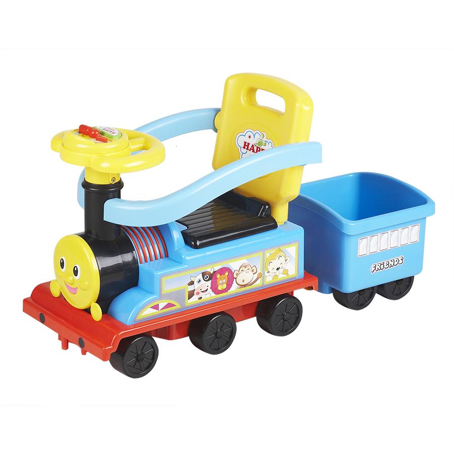 Ningbo Prince Toys Паровоз с бампером Синий