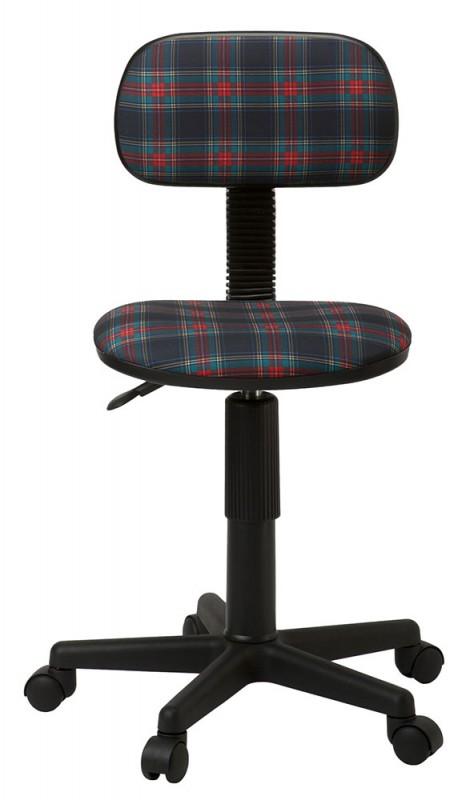 Кресло компьютерное Бюрократ CH-201NX/53-11, коричневый (клетка шотландка)