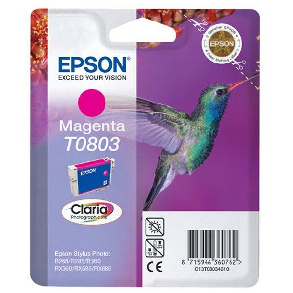 Картридж струйный Epson T0803 magenta C13T08034011