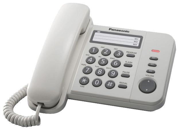 Panasonic KX-TS2352RUW - дисплей нет, нет номеров, , переадресация: нет