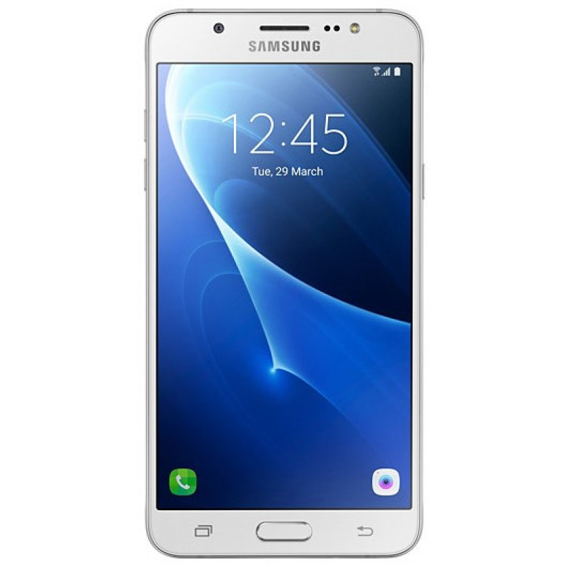 Samsung Galaxy J5 (2016) SM-J510 White - (; GSM 900/1800/1900, 3G, 4G LTE; SIM-карт 2; 1200 МГц; RAM 2 Гб; ROM 16 Гб; ; 13 млн пикс., светодиодная вспышка (фронтальная и тыльная); есть, 5 млн пикс.; датчики - освещенности, приближения)