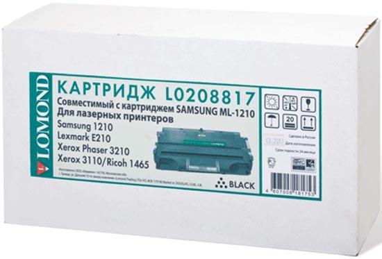 Картридж лазерный Lomond 1210D3 для Samsung ML-1210