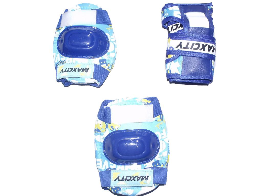 Защита роликовая MaxCity Teddy р. М, blue
