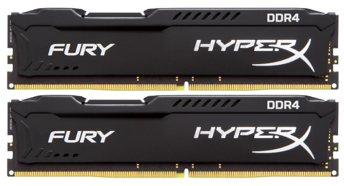 ����������� ������ DDR4 8192Mb 2666MHz Kingston 2*4Gb HyperX Fury Series HX426C15FBK2/8