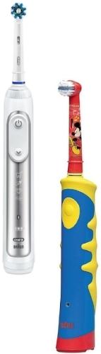 Зубная щётка электрическая Braun Oral-B 8000/D701 Genius White + D10.513K Mickey Kids, White