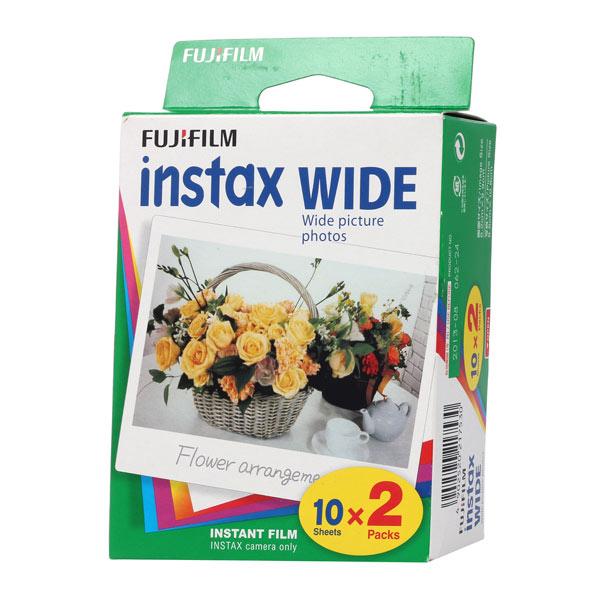 Fujifilm Instax Wide 10/2PK (2 шт) - (на 2 x 10 снимков; для Instax 210; подложка 108 x 86 мм; изображение 99 x 62 мм)