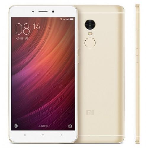 Xiaomi Redmi Note 4 64Gb Gold - (; GSM 900/1800/1900, 3G, 4G LTE, LTE-A Cat. 6; SIM-карт 2 (micro SIM+nano SIM); MediaTek Helio X20 (MT6797), 2100 МГц; RAM 3 Гб; ROM 64 Гб; 4100 мАч; 13 млн пикс., светодиодная вспышка; есть, 5 млн пикс.; датчики - освещенности, приближения, Холла, гироскоп, считывание отпечатка пальца)