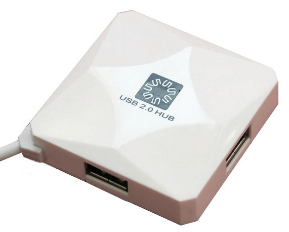 USB-��� 5bites 4 ����� USB2.0 (HB24-202WH) White