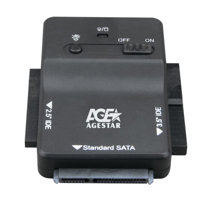 Док-станция для жёстких дисков AgeStar 3FBCP1 USB3.0 to all IDE +SATA devices - USB 3.0, PATA (IDE), SATA, внешний