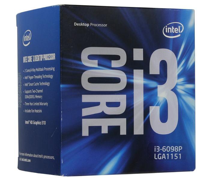 Процессор Intel Core i3-6098P Skylake (3600MHz, LGA1151, L3 3072Kb), BOX BX80662I36098P