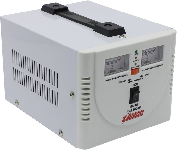 Стабилизатор напряжения Powerman AVS 1000 M, White