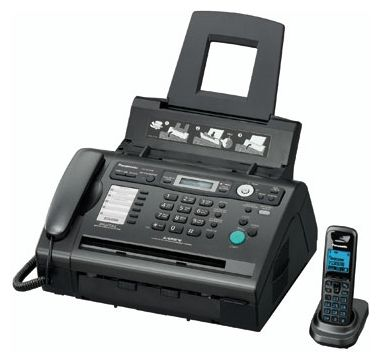Факс Panasonic KX-FLC418RU black, лист, A4