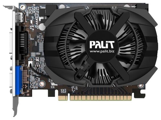 Palit GeForce GTX 650 (1Gb GDDR5, DVI-D + Mini HDMI + HDCP) - (NVIDIA GeForce GTX 650, 28 нм, 1058 МГц, 1024 Мб GDDR5@5000 МГц 128 бит • Разъёмы: DVI, поддержка HDCP, Mini HDMI, VGA.)