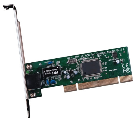 TP-LINK TF-3200 - PCI, 32 бит, 10/100 Мбит/с, кол-во разъемов RJ-45: 1