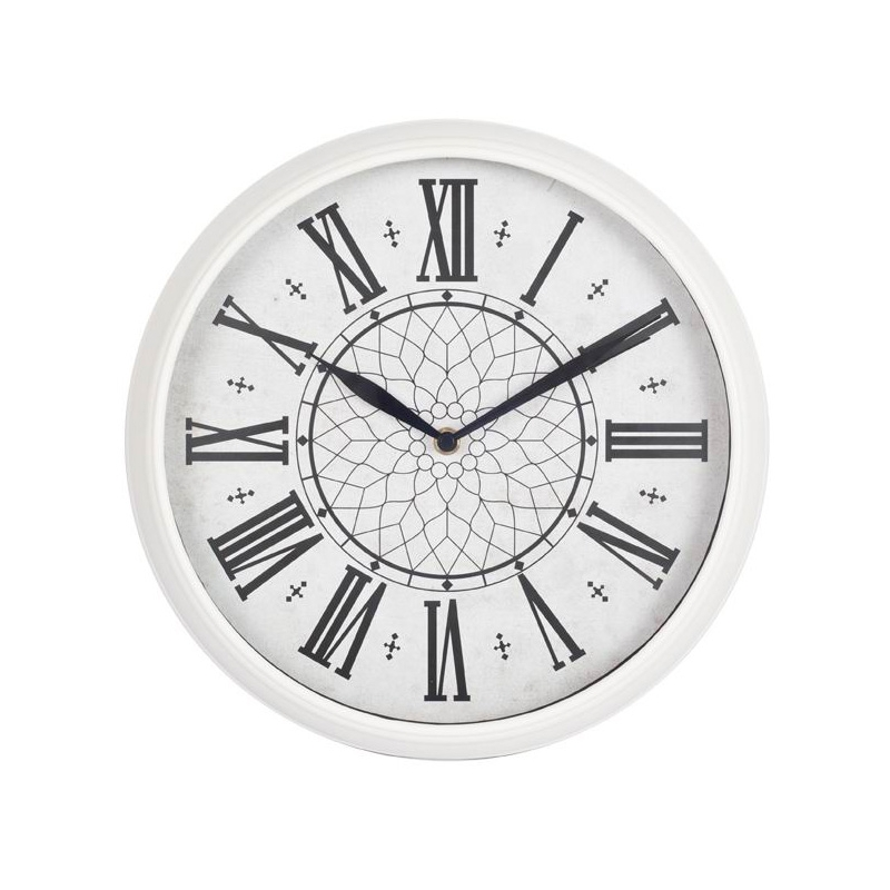 Часы настенные Бюрократ WallC-R26P, white WALLC-R26P/WHITE