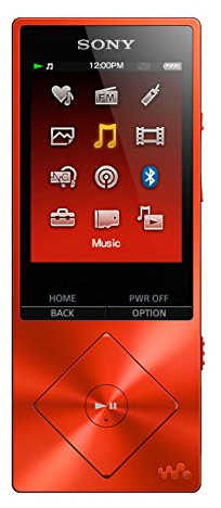 Sony Walkman NW-A25HN Hi-Res 16 ГБ, red - (Экран - LCD цветной, диагональ 2.2 дюйм. (240x320); 16 Гб; один слот microSD; USB 2.0)