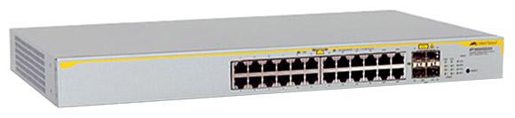 Allied Telesis AT-8000GS/24POE-50 - коммутатор (switch); 24 x Ethernet 10/100/1000 Мбит/сек; пропускная способность 68 Гбит/сек; таблица