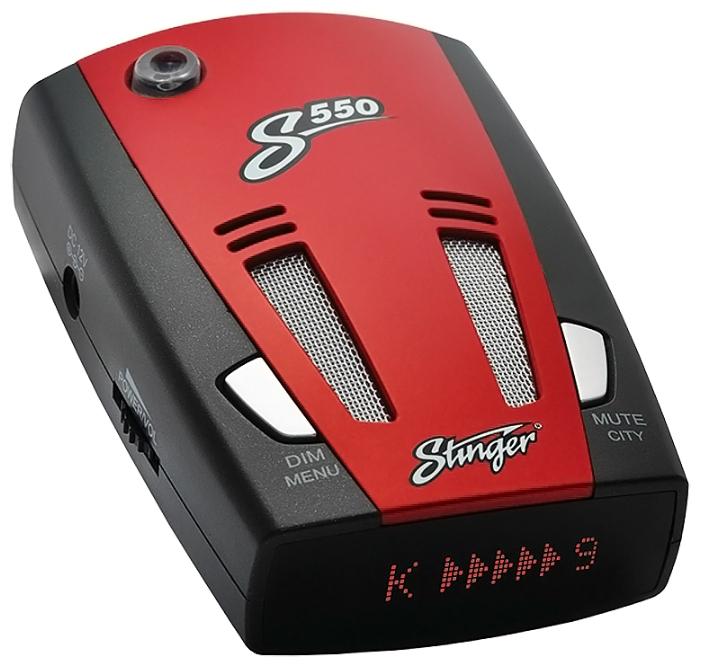 Stinger S550 - (Ultra-K, Ultra-Ka, Ultra-X, POP, Instant-On, режим Город: есть, режим Трасса: есть, отображение информации: ЖК-дисплей)