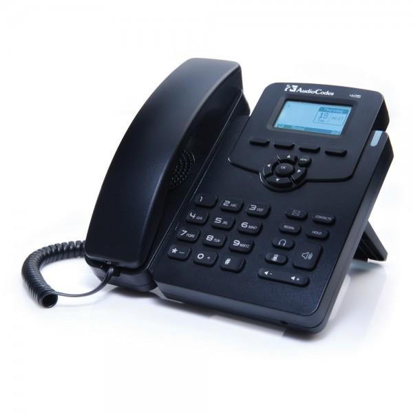 VoIP-телефон AudioCodes 450HD IP-Phone PoE GbE, Black, 2 LAN RJ-45 10/100/1000 Base-T. 1 RJ-9 разъем для гарнитуры. DHSG, 2 линии, есть определитель номера