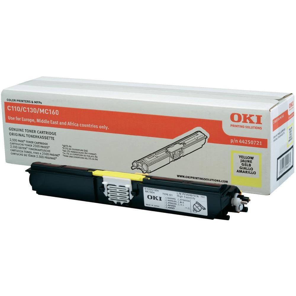 Картридж лазерный Oki C110 2.5K Yellow 44250729