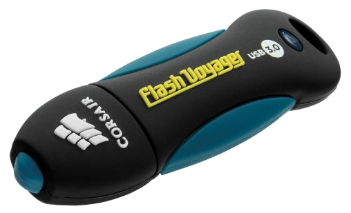 Флешка Corsair Flash Voyager USB 3.0 128Gb (CMFVY3A), Black/Blue CMFVY3A-128GB