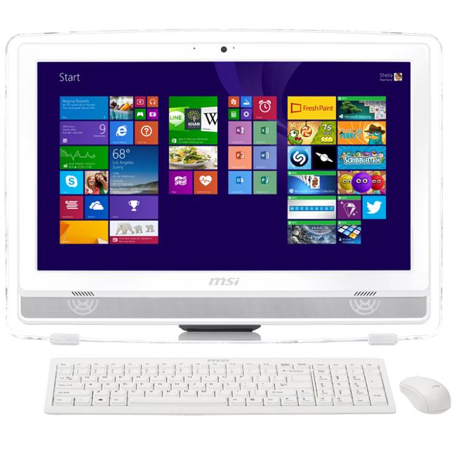 "MSI AE222T-286RU (9S6-AC1112-286), White - (Intel Pentium G3250; 4 Гб; 500 Гб; ODD - DVD-RW • Экран 21.5"" 1920x1080; Intel HD Graphics • LAN 10-1000 Мбит/с; Wi-Fi 802.11 b/g/n • DOS)"