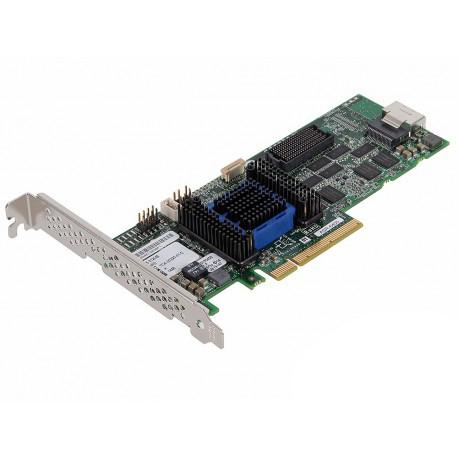 Adaptec ASR-6405 KIT (2271100-R) - (SAS / SATA RAID-контроллер (RAID 0, 1, 1E, 5, 5EE, 6, 10, 50, 60); PCI-Express x8, rev.2.0; снаружи нет; внутри 1x SFF-8087 • Подкл. устр-ва: 8 с прямым подключением или до 256 устройств с помощью SAS-экспандеров)