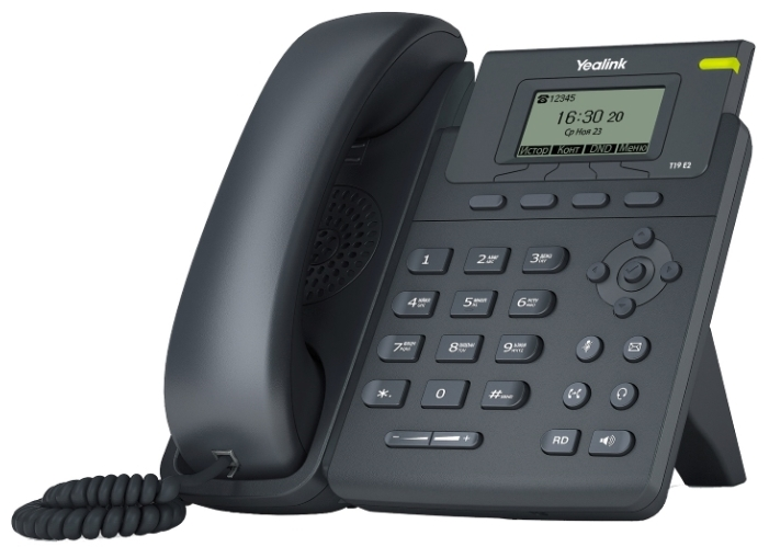VoIP-телефон Yealink SIP-T19 E2, WAN, LAN, 1 линии, есть определитель номера