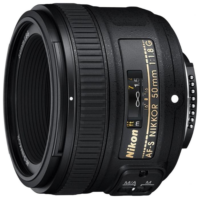 Фотообъектив Nikon 50 mm f/1.8G AF S Nikkor JAA015DA